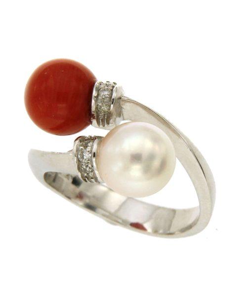 anelli-perla corallo-bl35
