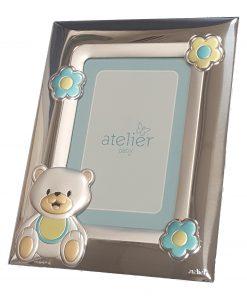 silver-blue bear frame 8x12-ag13