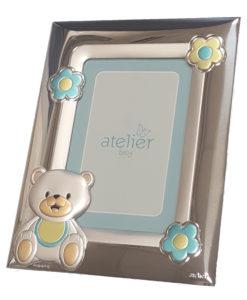 argento-cornice orso azzurra 8x12-ag13