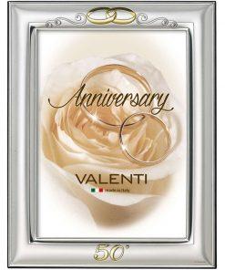 silver-frame wedding rings valenti 50 years 13x18-ag11