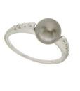 anello perla grigia