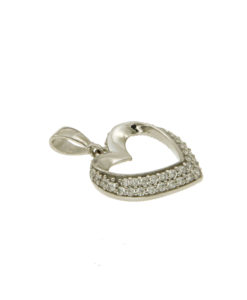 collane-ciondolo cuore zirconi-or355