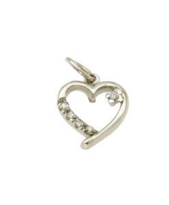collane-ciondolo cuore zirconi-or356