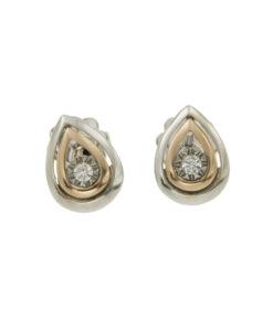 orecchini-due ori diamante-n365
