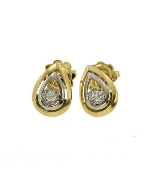 orecchini-goccia due ori e diamante-n370