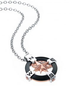 Zancan-men's-necklace-in-steel-Rose-of-the-winds-Zancan-149135