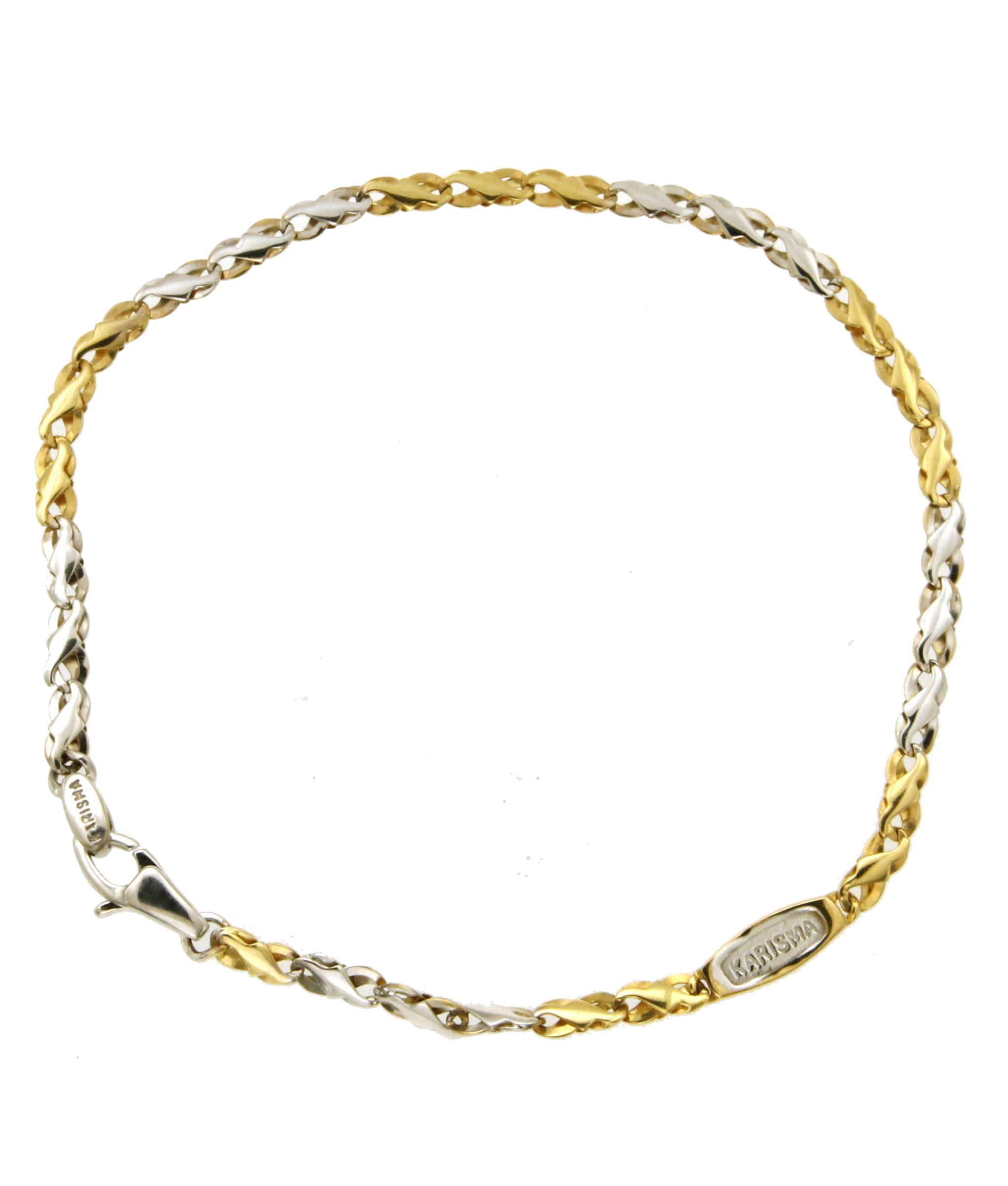 a basso prezzo 91e99 f6018 Bracciale in oro giallo e oro bianco