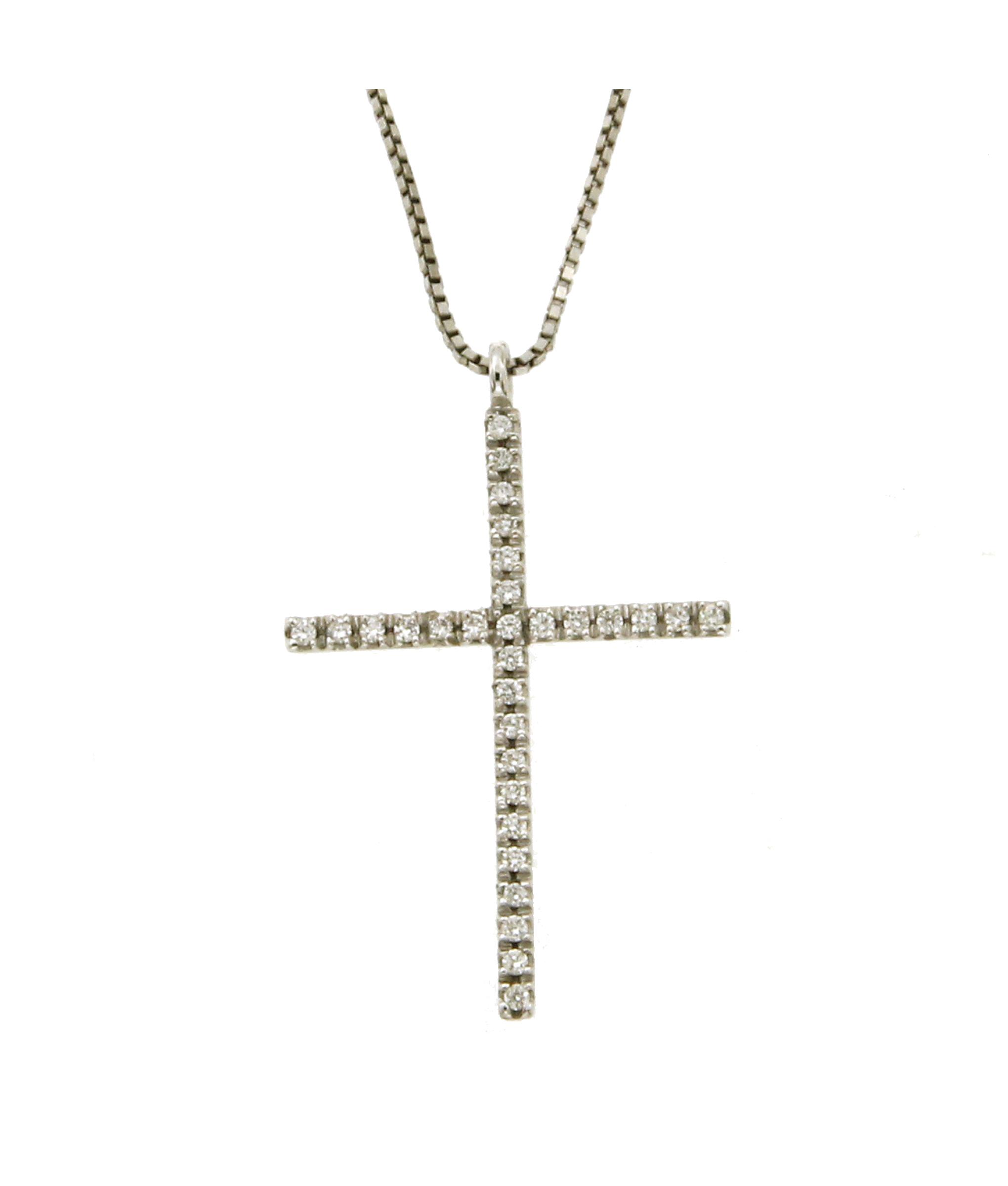 Catenina Con Croce Di Diamanti Il Bello Del Lusso