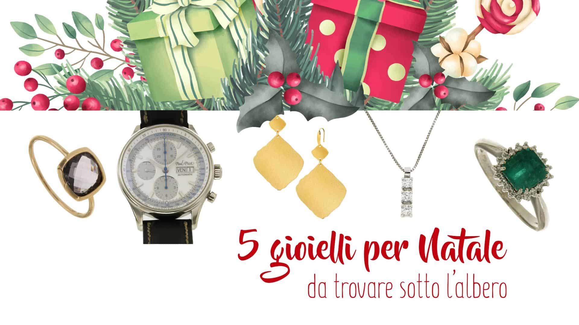 5 gioielli per Natale: gioielli e orologi di lusso sotto una decorazione natalizia