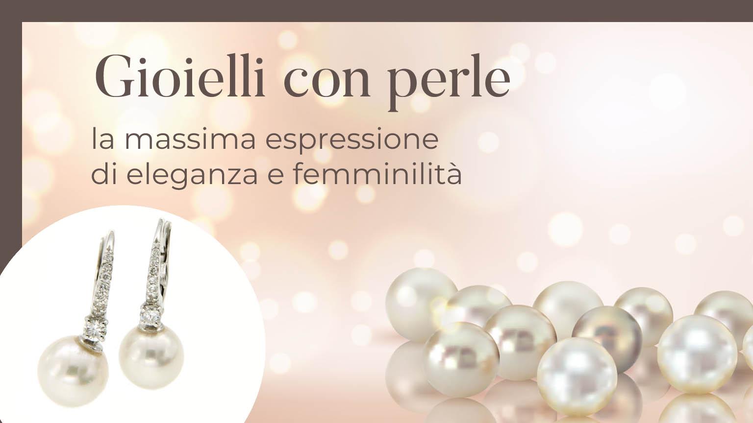 Cascata di perle su sfondo color crema e gioielli con perle, simbolo di eleganza e femminilità